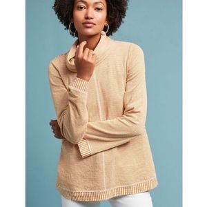 Anthropologie Maeve Tan Cowlneck Tunic XS